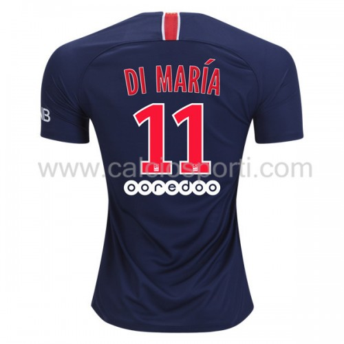 Paris Saint Germain PSG 2018-19 Di Maria 11 Short Sleeve Home Soccer Jersey