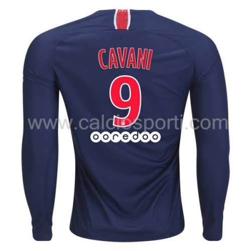 Paris Saint Germain Psg 2018-19 Edinson Cavani 9 Long Sleeve Home Soccer Jersey