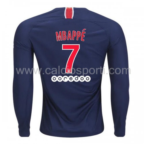 Paris Saint Germain PSG 2018-19 Kylian Mbappé 7 Long Sleeve Home Soccer Jersey