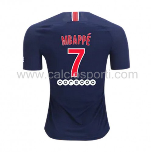 Paris Saint Germain PSG 2018-19 Kylian Mbappé 7 Short Sleeve Home Soccer Jersey