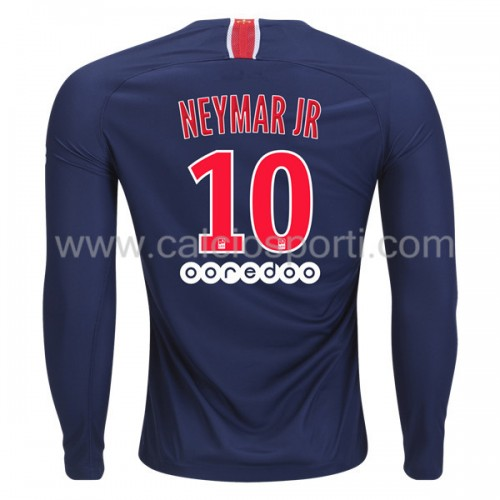 Paris Saint Germain PSG 2018-19 Neymar Jr 10 Long Sleeve Home Soccer Jersey