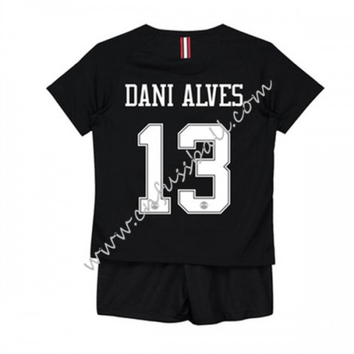 Paris Saint Germain PSG Kids 2018-19 Dani Alves 32 Short Sleeve Third Soccer Jersey