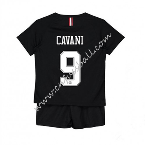Paris Saint Germain PSG Kids 2018-19 Edinson Cavani 9 Short Sleeve Third Soccer Jersey