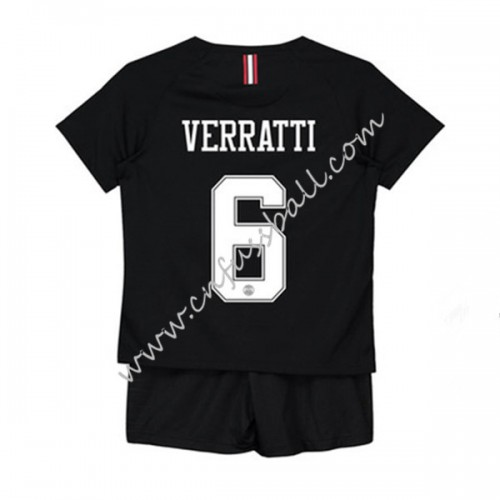 Paris Saint Germain PSG Kids 2018-19 Marco Verratti 6 Short Sleeve Third Soccer Jersey