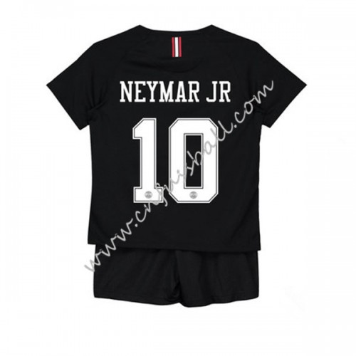 Paris Saint Germain PSG Kids 2018-19 Neymar Jr 10 Short Sleeve Third Soccer Jersey