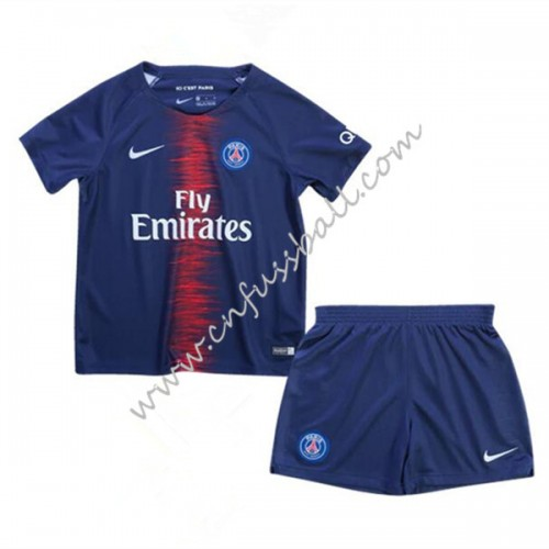 Paris Saint Germain PSG Kids 2018-19 Short Sleeve Home Soccer Jersey