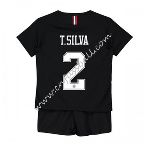 Paris Saint Germain PSG Kids 2018-19 T. Silva 2 Short Sleeve Third Soccer Jersey