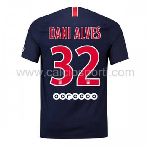 Paris Saint Germain Psg 2018-19 Dani Alves 32 Short Sleeve Home Soccer Jersey