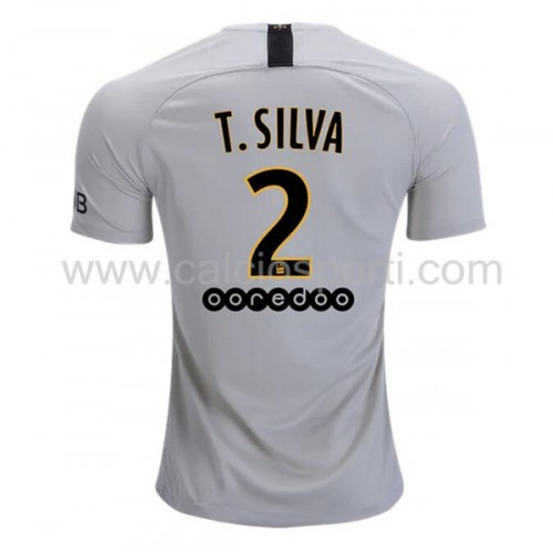Paris Saint Germain Psg 2018-19 Thiago Silva 2 Short Sleeve Away Soccer Jersey