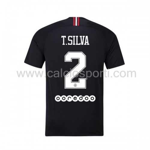 Paris Saint Germain Psg 2018-19 Thiago Silva 2 Short Sleeve Third Soccer Jersey