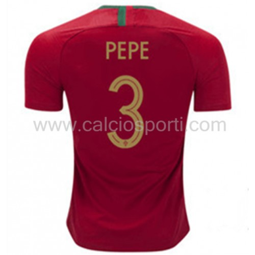 Portugal 2018 Pepe 3 Short Sleeve Home Soccer Jersey