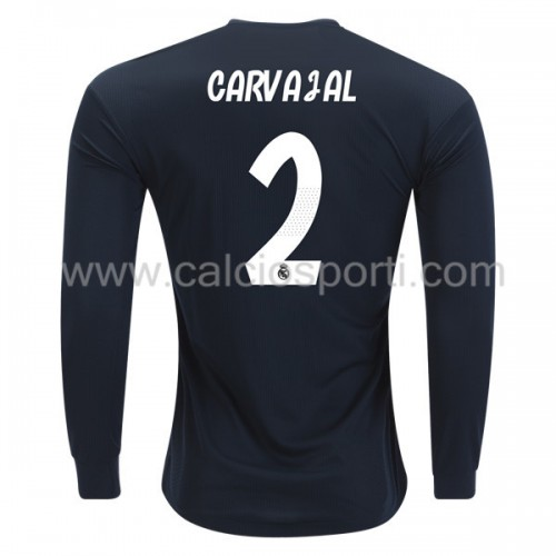 Real Madrid 2018-19 Dani Carvajal 2 Long Sleeve Away Soccer Jersey