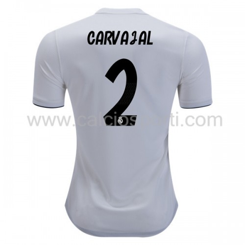 Real Madrid 2018-19 Dani Carvajal 2 Short Sleeve Home Soccer Jersey