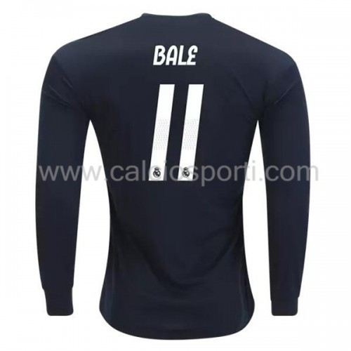 Real Madrid 2018-19 Gareth Bale 11 Long Sleeve Away Soccer Jersey