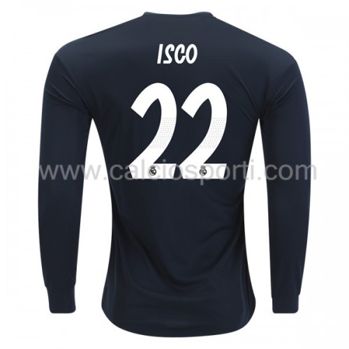 Real Madrid 2018-19 Isco Suarez 22 Long Sleeve Away Soccer Jersey