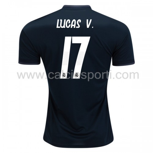Real Madrid 2018-19 Lucas Vazquez 17 Short Sleeve Away Soccer Jersey