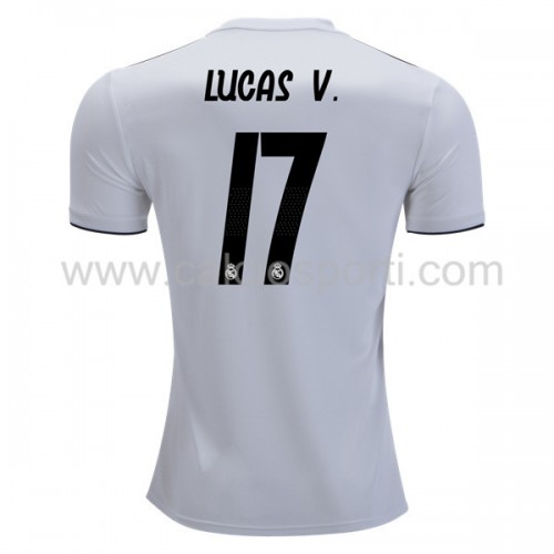 Real Madrid 2018-19 Lucas Vazquez 17 Short Sleeve Home Soccer Jersey