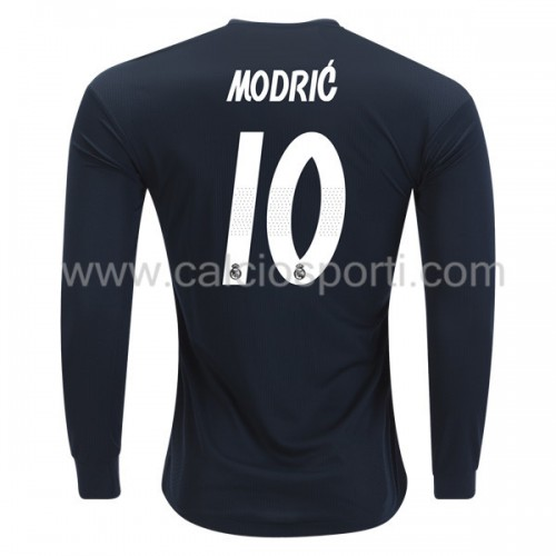 Real Madrid 2018-19 Modric 10 Long Sleeve Away Soccer Jersey