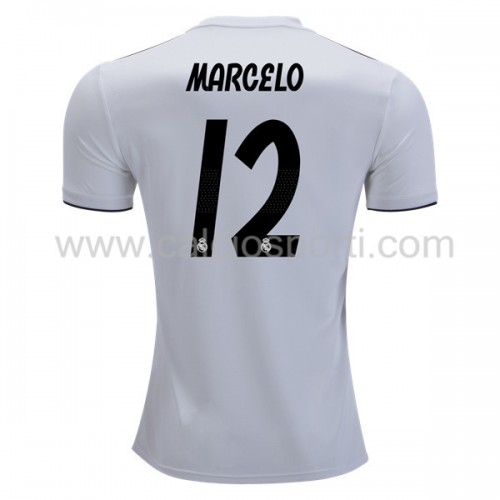 Real Madrid 2018-19 Marcelo Junior 12 Short Sleeve Home Soccer Jersey