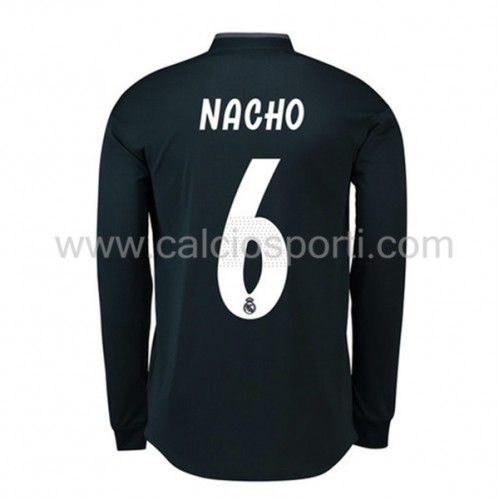 Real Madrid 2018-19 Nacho Fernandez 6 Long Sleeve Away Soccer Jersey
