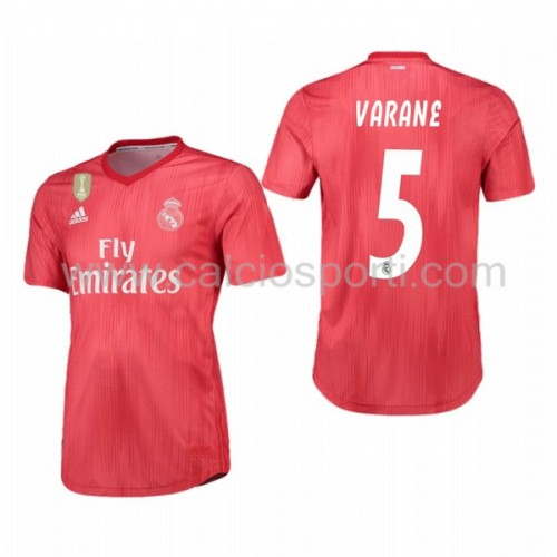 Real Madrid 2018-19 Raphael Varane 5 Short Sleeve Third Soccer Jersey