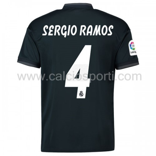 Real Madrid 2018-19 Sergio Ramos 4 Short Sleeve Away Soccer Jersey