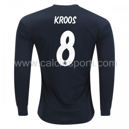 Real Madrid 2018-19 Toni Kroos 8 Long Sleeve Away Soccer Jersey