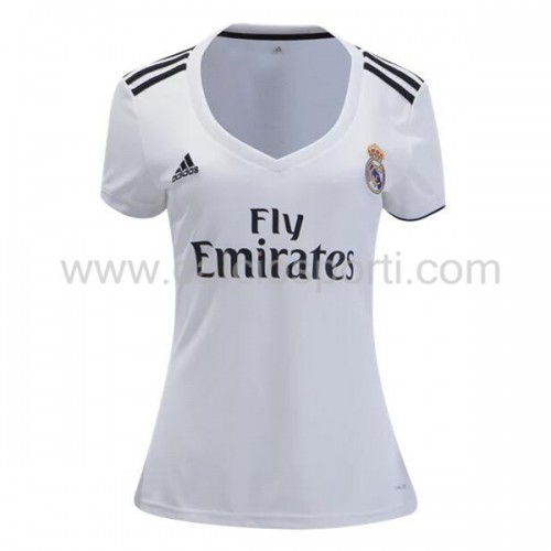 Real Madrid Womens 2018-19 Short Sleeve Home Soccer Jersey