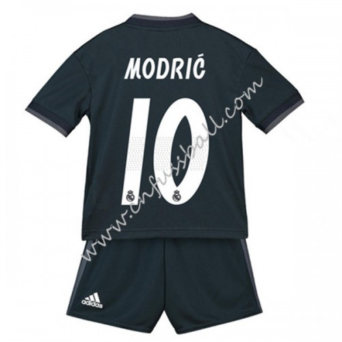 Real Madrid Kids 2018-19 Luka Modric 19 Short Sleeve Away Soccer Jersey