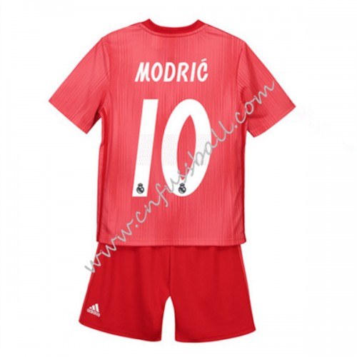 Real Madrid Kids 2018-19 Luka Modric 19 Short Sleeve Third Soccer Jersey