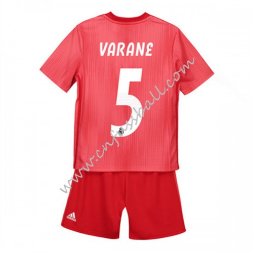 Real Madrid Kids 2018-19 Raphael Varane 5 Short Sleeve Third Soccer Jersey