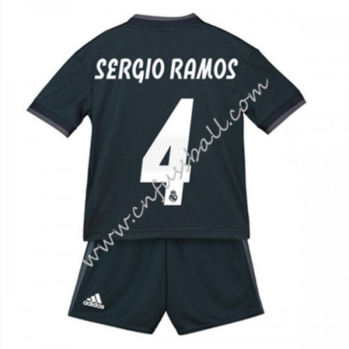 Real Madrid Kids 2018-19 Sergio Ramos 4 Short Sleeve Away Soccer Jersey