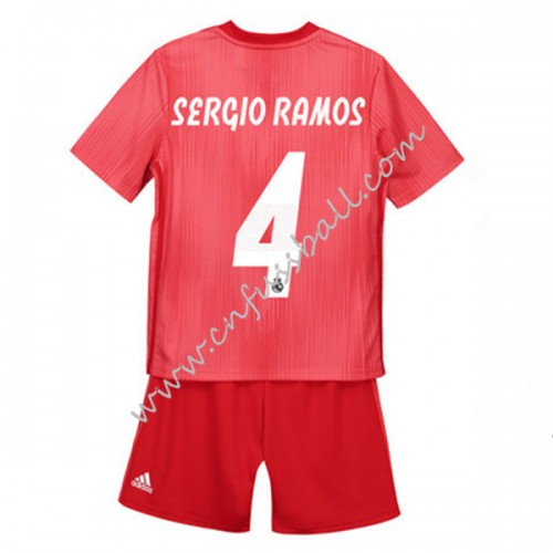 Real Madrid Kids 2018-19 Sergio Ramos 4 Short Sleeve Third Soccer Jersey