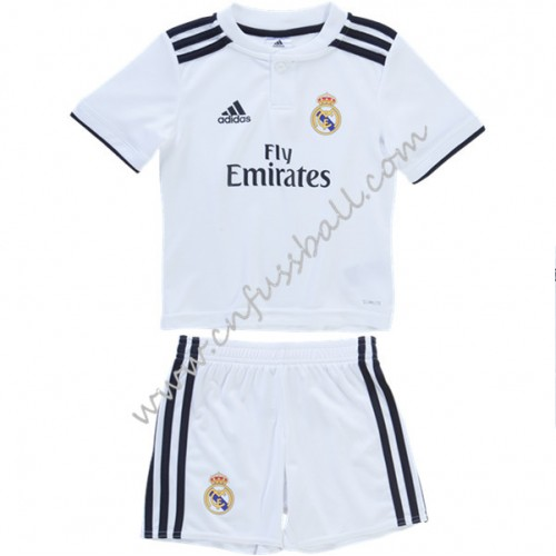 Real Madrid Kids 2018-19 Short Sleeve Home Soccer Jersey