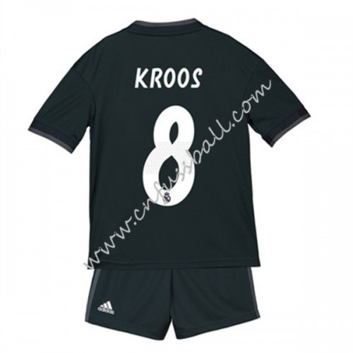 Real Madrid Kids 2018-19 Toni Kroos 8 Short Sleeve Away Soccer Jersey