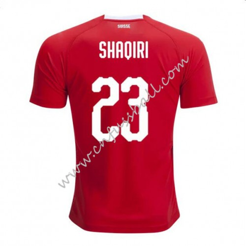 Switzerland 2018 Shaqiri 23 Short Sleeve Home Soccer Jersey
