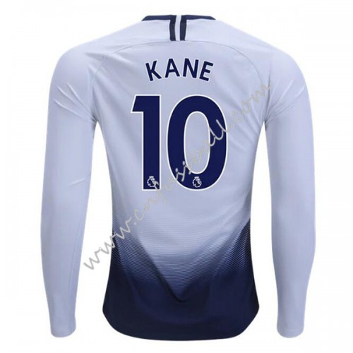 Tottenham Hotspurs 2018-19 Harry Kane 10 Long Sleeve Home Soccer Jersey