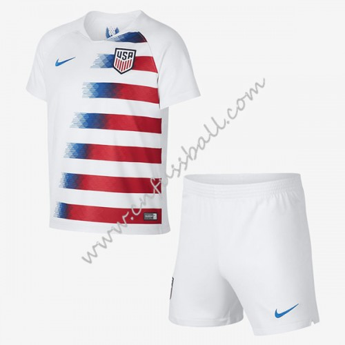 USA Kids 2018 Short Sleeve Home Soccer Jersey