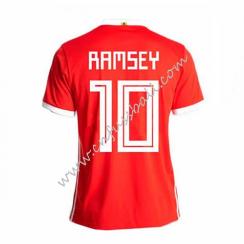 Wales 2018 Ramsey 10 Short Sleeve Home Soccer Jersey